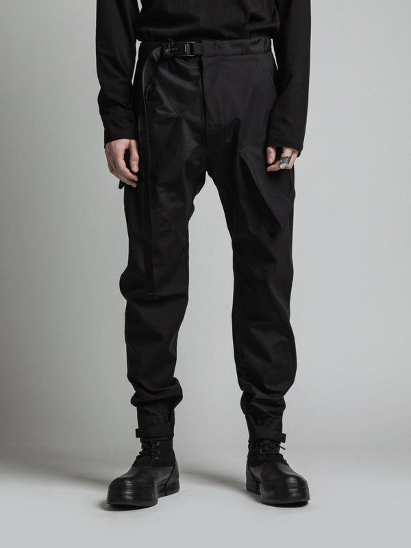 Wool Bonding Slim Pants - Black