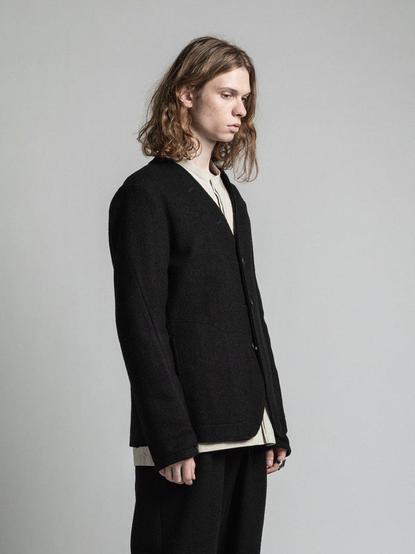 Wool Reversible Jacket - Black