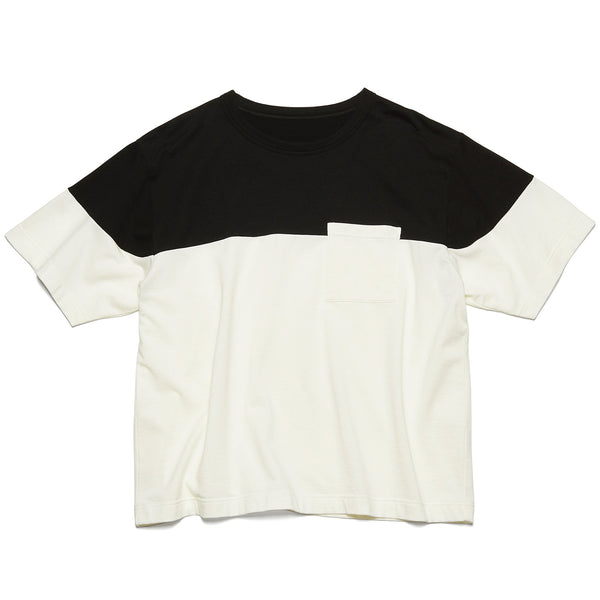 Chest Paneled Wide Pocket T-Shirt - White