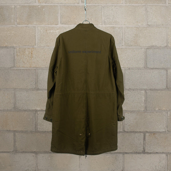 uniform experiment Stand Collar Coat - Damaged - Khaki SUPPLIES AND CO