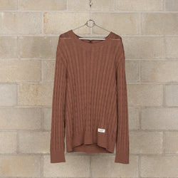 Crew Neck Cable Sweater-Wacko Maria-SUPPLIES & COMPANY