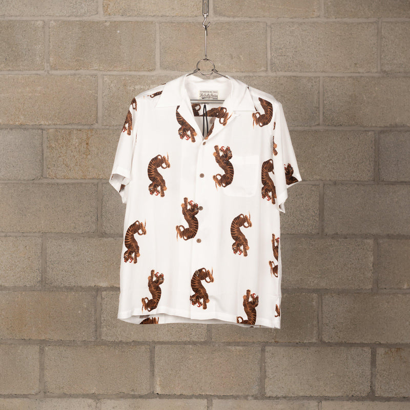 Wacko Maria Hawaiian Shirt Short Sleeve (Type-18) - White SUPPLIES AND CO