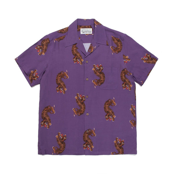 Hawaiian Shirt Short Sleeve (Type-2) - Purple-Wacko Maria-SUPPLIES & COMPANY