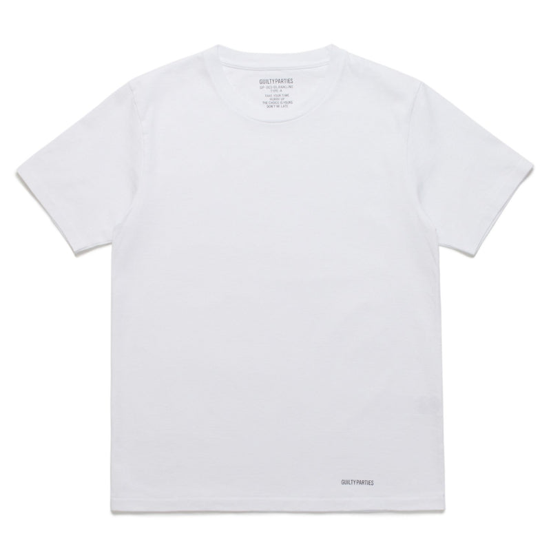 Heavy Weight Crew Neck T-Shirt (Type-A) - White-Wacko Maria-SUPPLIES & COMPANY