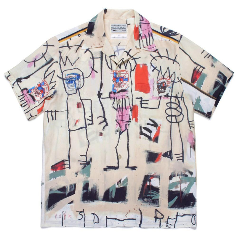 Jean-Michel Basquiat / Short Sleeve Hawaiian Shirt (Type-3) - Multi-Wacko Maria-SUPPLIES & COMPANY