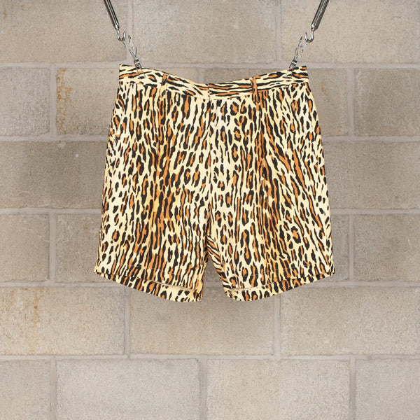 Leopard Pleated Short Trousers-Wacko Maria-SUPPLIES & COMPANY
