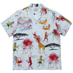 Neck Face / Short Sleeve Hawaiian Shirt - Mint-Wacko Maria-SUPPLIES & COMPANY