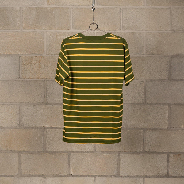Wacko Maria Striped Crew Neck T-Shirt (Type-1) - Green / Yellow SUPPLIES AND CO