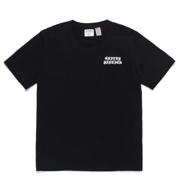 USA Body Crew Neck Pocket T-Shirt (Type-2) - Black-Wacko Maria-SUPPLIES & COMPANY