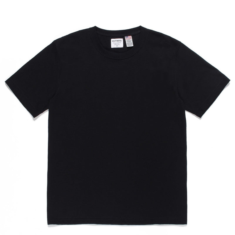 Washed Heavy Weight Crew Neck Color T-Shirt (Type-1) - Black-Wacko Maria-SUPPLIES & COMPANY