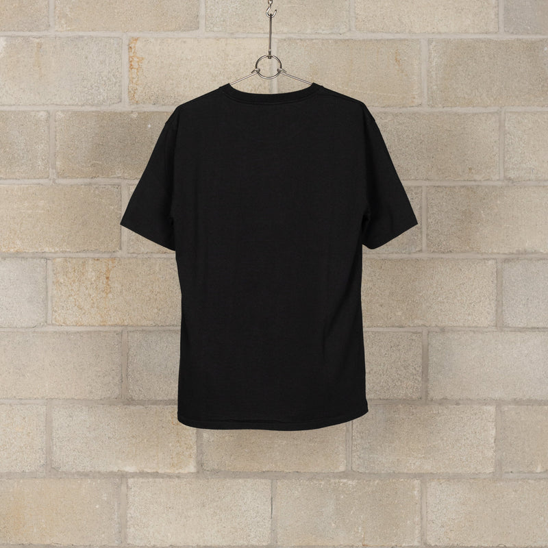 Washed Heavy Weight Crew Neck T-Shirt (Type-4) - Black-Wacko Maria-SUPPLIES & COMPANY