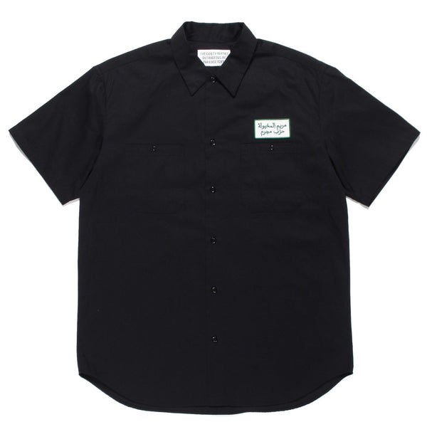 Work Shirt Short Sleeve (Type-1) - Black-Wacko Maria-SUPPLIES & COMPANY