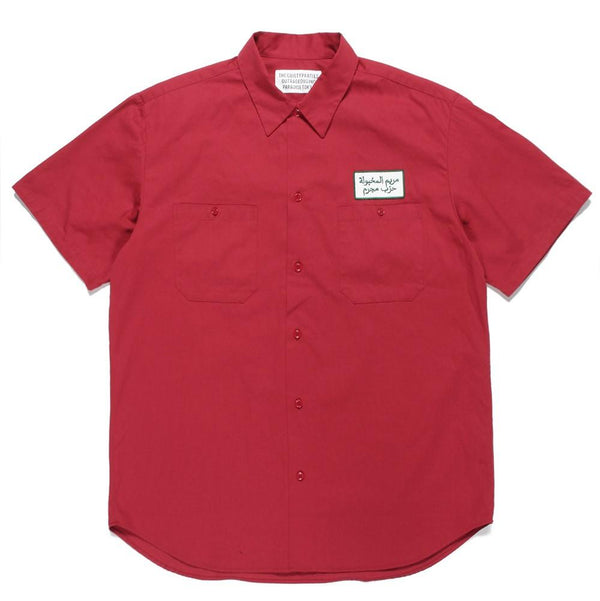 Work Shirt Short Sleeve (Type-1) - Red-Wacko Maria-SUPPLIES & COMPANY