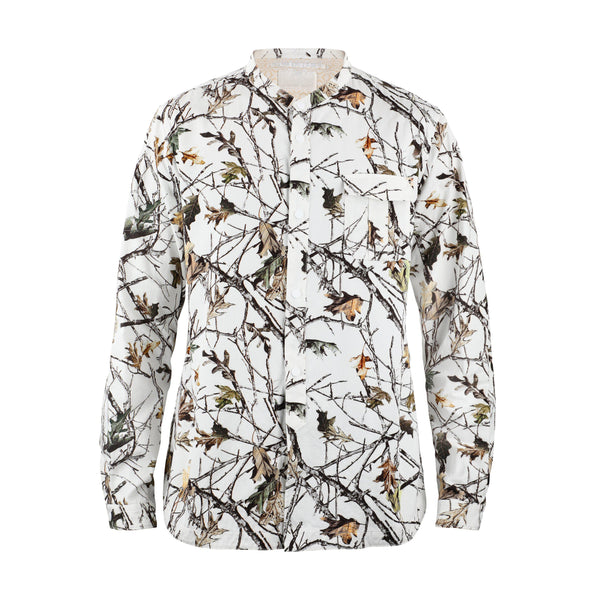 White Mountaineering Forest Camouflage Printed Twill Shirt SUPPLIES AND CO