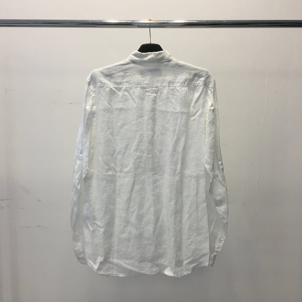 L/S Button Down Linen Shirt-White Mountaineering-SUPPLIES & COMPANY
