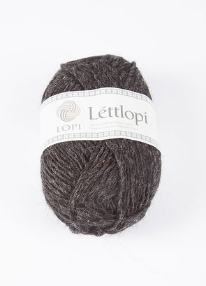 Lettlopi - Lopi Lite - 0005 - black heather - Álafoss - Since 1896