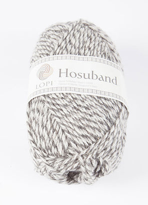 Hosuband - 0224 - grey/white - Álafoss - Since 1896
