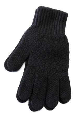 Men's Wool Gloves Black