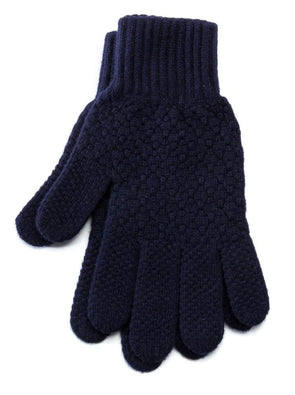 Men's Wool Gloves Navy