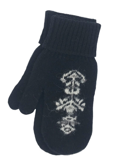 Hekla Wool Mittens Black