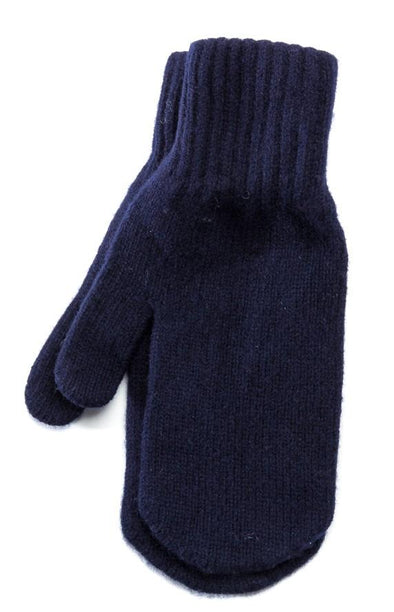 Wool Mittens Navy
