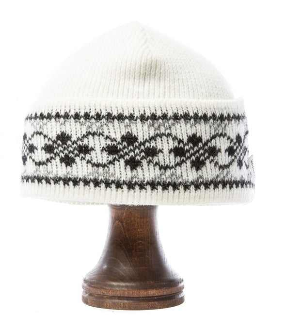 Patterned Wool Hat White