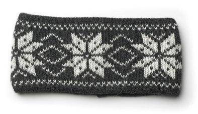 Rose Pattern Wool Headbands Grey