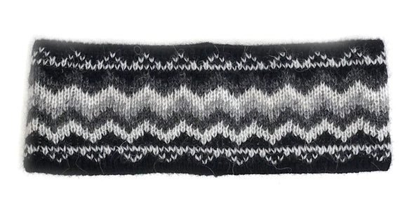 Patterned Wool Headbands Black