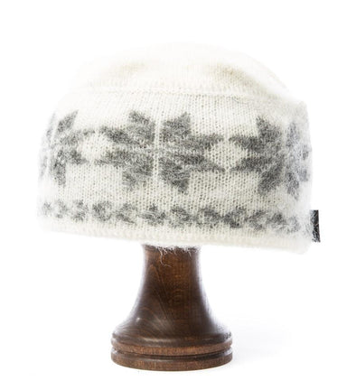 Brushed Wool Hat White