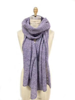 Iceland Wool Scarf Grey/Purple