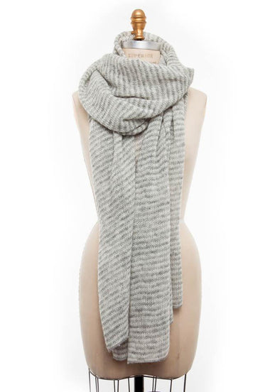 Iceland Wool Scarf Grey