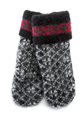 Norwegian Wool Mittens Black