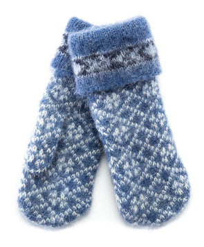 Norwegian Wool Mittens Blue
