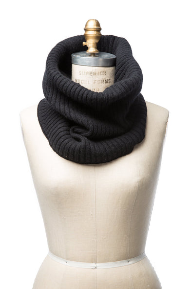 Wool Collar Black