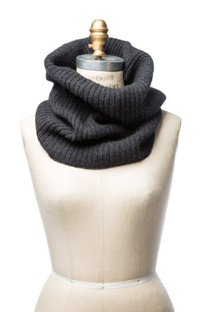 Wool Collar Dark Grey
