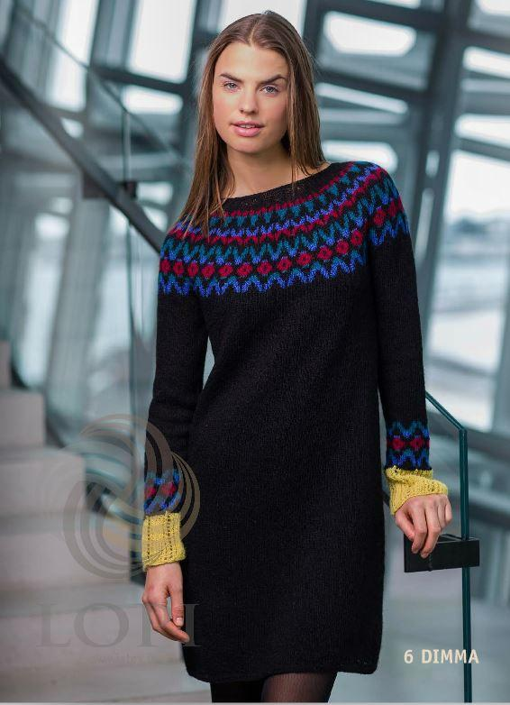 Dimma Women Wool Dress Black - Álafoss - Since 1896