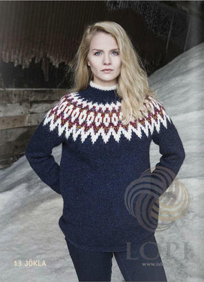 Jökla Women Wool Sweater Blue - Álafoss - Since 1896
