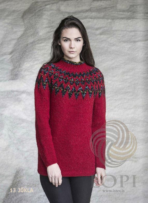 - Icelandic Jökla Women Wool Sweater Red - Tailor Made - Nordic Store Icelandic Wool Sweaters  - 1