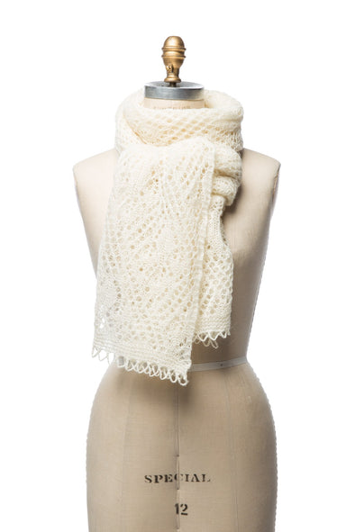 Iceland Wool Scarf White