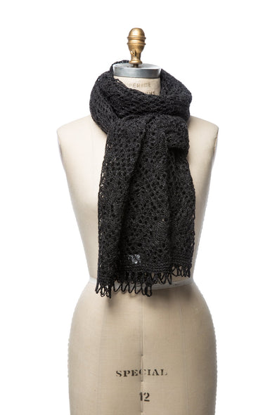 Iceland Wool Scarf Black