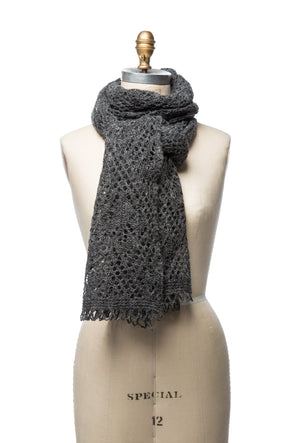 Iceland Wool Scarf Dark Grey