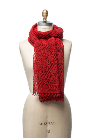 Iceland Wool Scarf Red