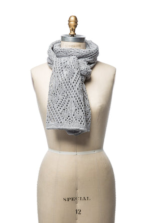Iceland Wool Scarf Light Grey