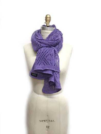 Iceland Wool Scarf Purple