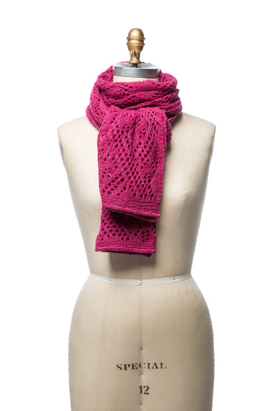 Iceland Wool Scarf Berry