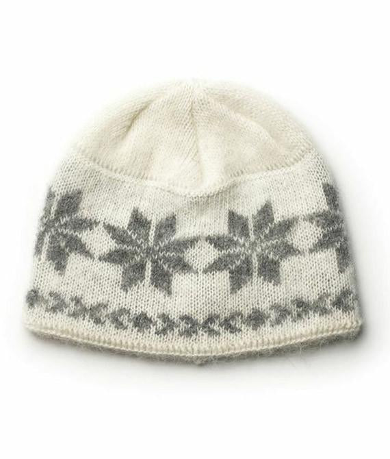 Icelandic sweaters and products - Brushed Wool Hat White Wool Accessories - NordicStore