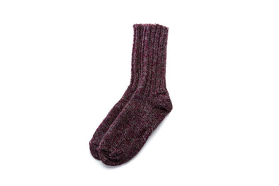 Classic Adult Wool Socks Red