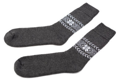 Álafoss Wool Socks w/ Traditional Pattern - Álafoss - Since 1896