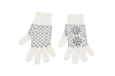 Álafoss Rose Pattern Wool Gloves - Álafoss - Since 1896