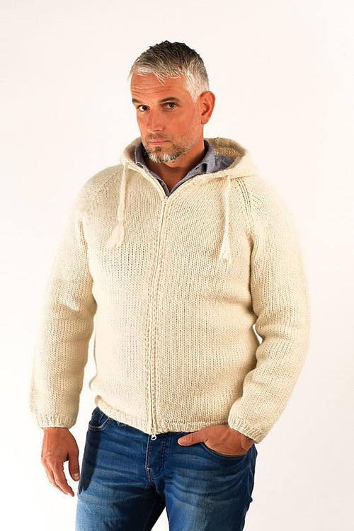 Freri Wool Cardigan White - Álafoss - Since 1896